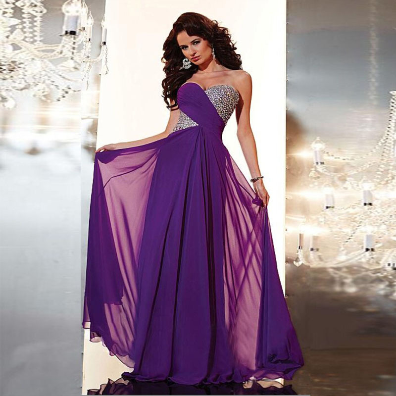 Purple Modest Prom Dresses Promotion-Shop for Promotional Purple ...