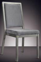 Silver Grey Aluminum Hotel Chair LQ L7841