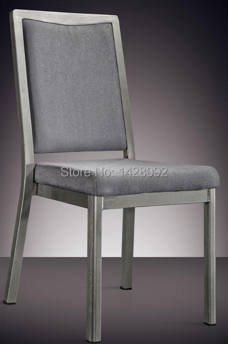 silver grey painted aluminum hotel chair LQ-L7841 the silver chair