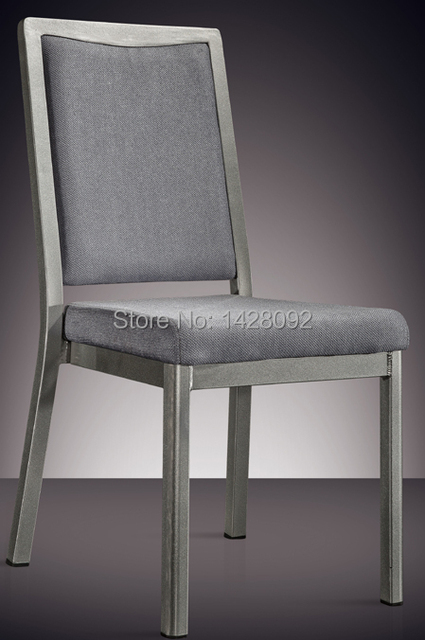 silver grey painted aluminum hotel chair LQ-L7841