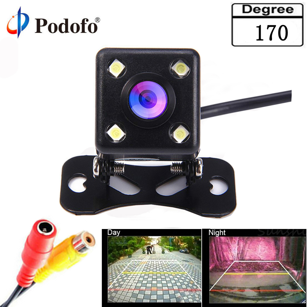 Podofo Auto CCD HD Car Backup Reverse Camera Rear Monitor Parking aid Universal Camera Front Rear View Camera Waterproof Camera color car camera free shipping for 2012 asia kia k5 car rear view camera reverse backup parking aid waterproof