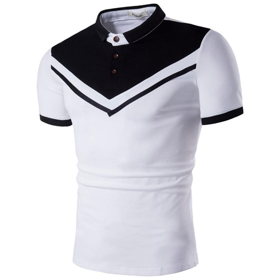 Mutter & Kinder Zogaa Marke Neue Männer Polo Shirt Männer Business Casual Feste Männliche Polo Shirt Kurzarm Farbe Block Polo Hemd Schlank Fit Polo Herren