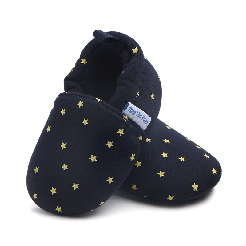 High quality Baby Boys girls Shoes gold star printing Infant First Walkers Soft Sole Toddler Baby Shoes 0-18M