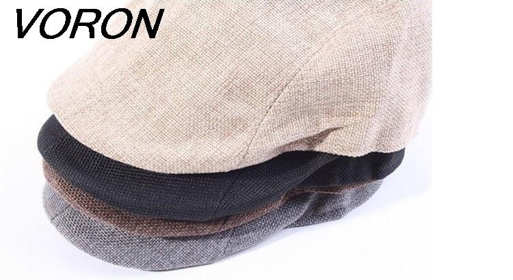 VORON nuevo verano boina hombres diseño lino sombrero mujer otoño e - Accesorios para la ropa - foto 5