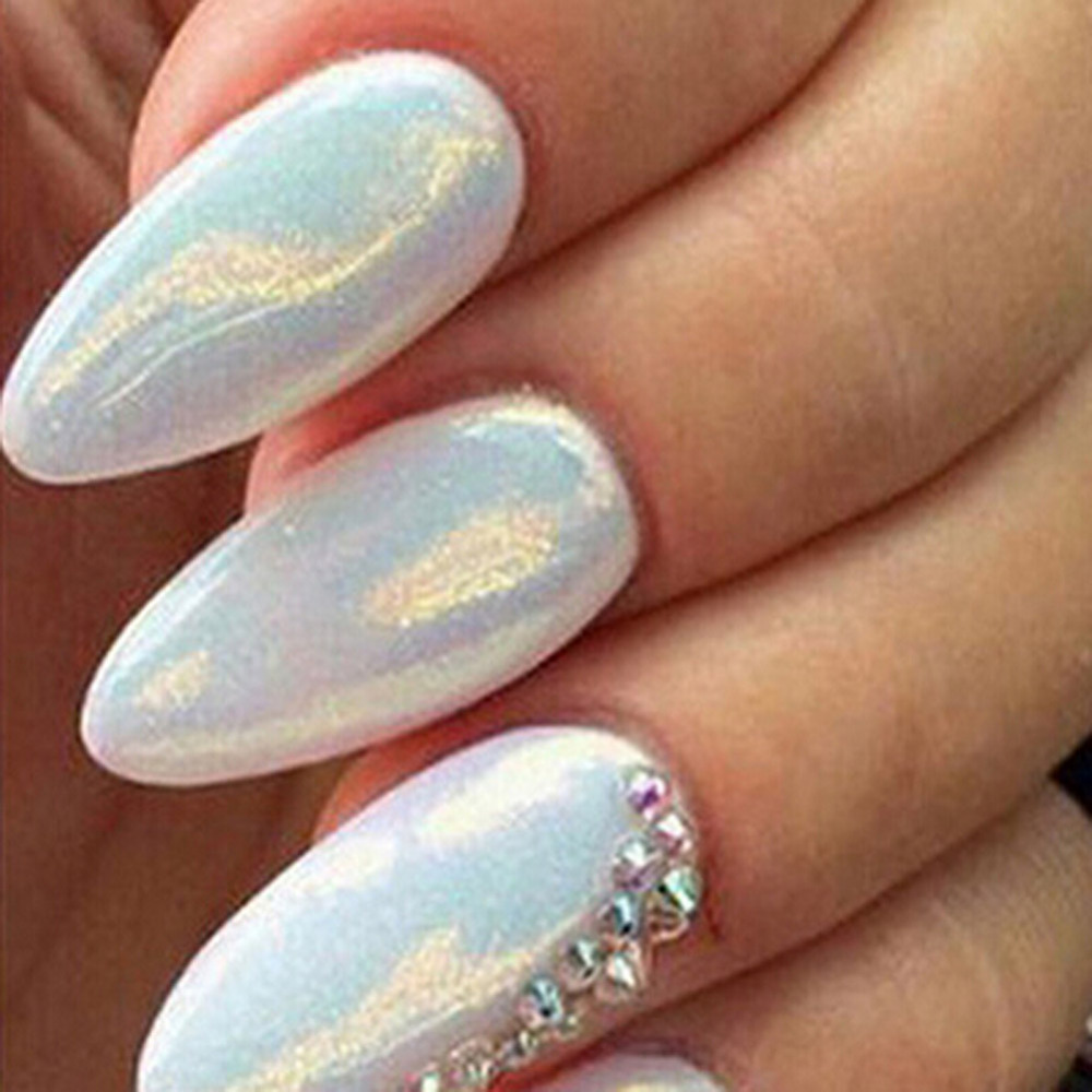 2018 10g Pack Brand New Mermaid Effect Nail Glitter Powder Art Decoration Magic Shimmer Chrome Acrylic Dust Manicure In From Beauty