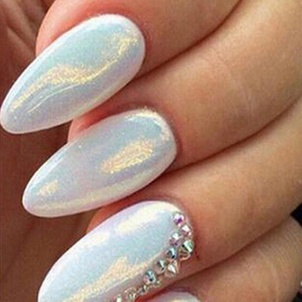 2018 nuevo 12 colores sirena efecto Nail Glitter Nail Art decoración ...
