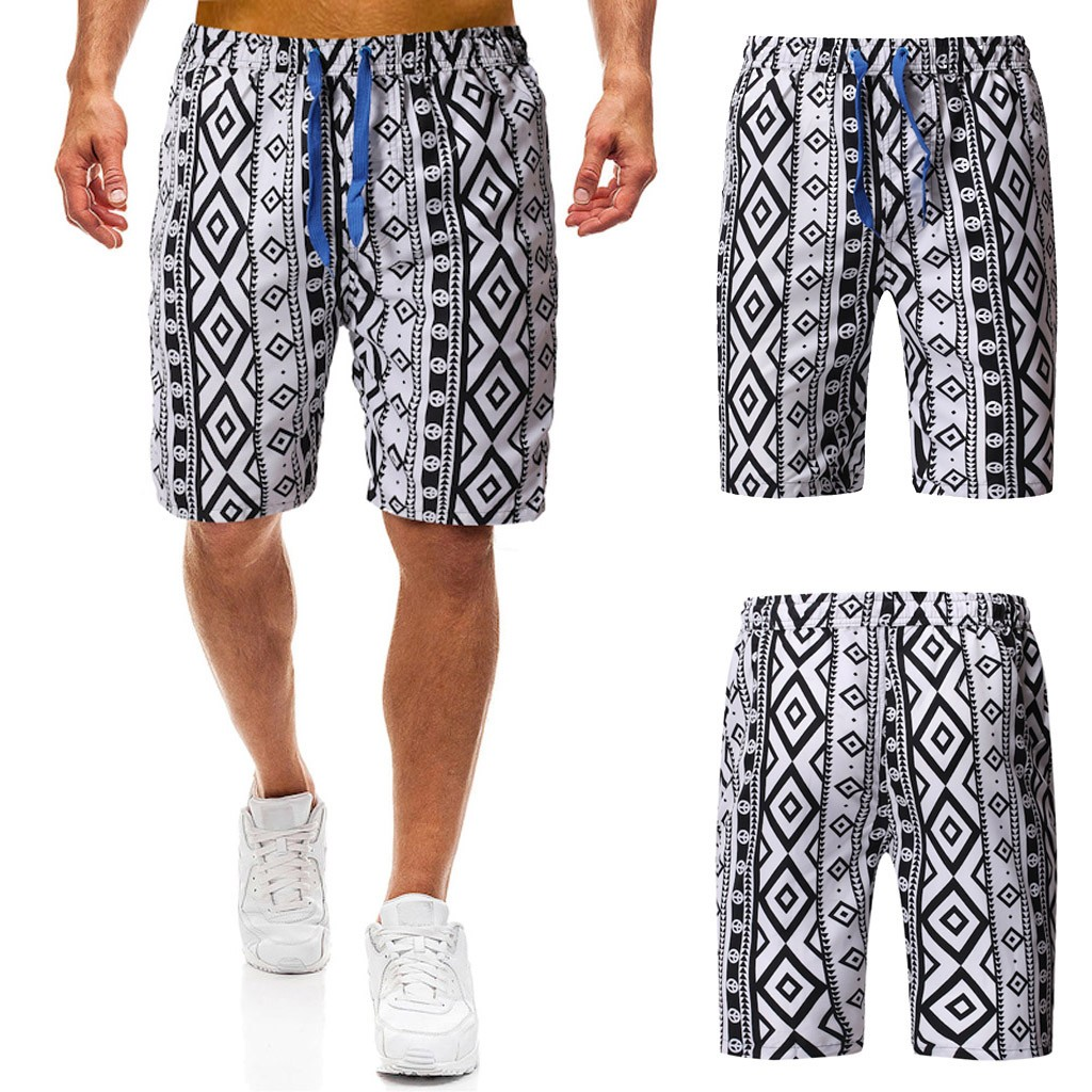 2019 NEW Men's summer camouflage ethnic style printed trunk quick-drying beach surf running shorts 7.12(China)
