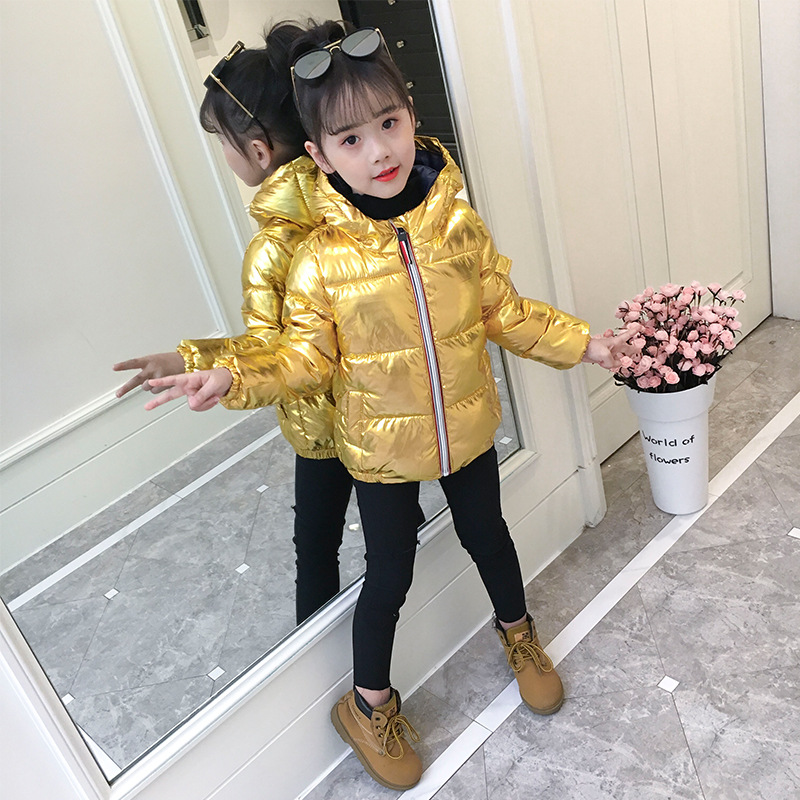 Children winter jacket for kids girl silver gold Boys Casual Hooded Coat Baby Clothing Outwear kids Parka Jacket snowsuit children winter jacket for kids girl silver boys hooded coat baby clothing outwear kid parka jackets snow wear meisjes winterjas