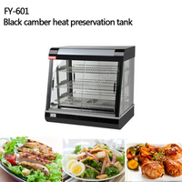 FY 601 Commercial Stainless Steel Electric Food Warmer Three Layers Keep Food Warm Heated Display Cabinet