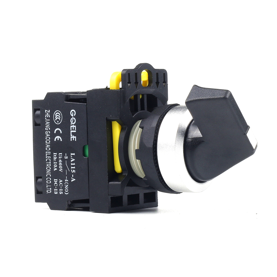 5 PCS Push button switch Selector switch Short handle 2-Position Momentary IP65 1NO 1NC 1NO+1NC 2NO 2NC LA115-A2-11CX 3 terminal short push plunger momentary micro switch 15a 250vac 1no 1nc