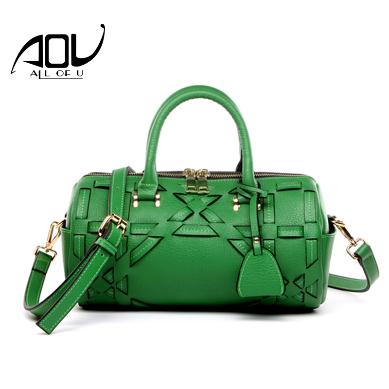 AOU 100% Cow Genuine Leather Women Tote First Layer Cow Female Messenger Bags Satchel Knitting Shoulder Bags luxury handbags 2017 autumn and winter new genuine leather women handbags crocodile grain first layer of cowhide female shoulder messenger bags