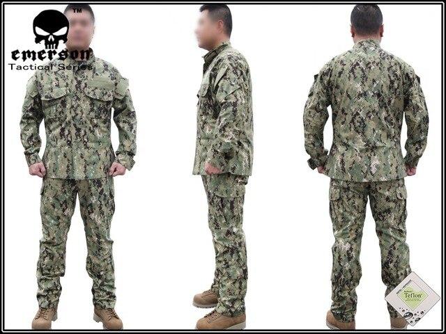 a4698d7a29b2b Military Hunting Combat BDU Shirt   Pants EMERSON NWU Type III AOR2 Uniform  EM6892