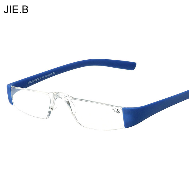 HD Reading Glasses Fashion Clear Lens Plastic Eyewears Light Men Women Color Eyeglasses Presbyopic Glasses Diopter 1.0 to 3.5