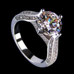 200CT Monique Lhuillier Pave Leaf Engagement Ring NSCD Diamond