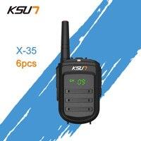 6 шт. KSUN X 35TFSI мини двухстороннее радио UHF 400 470 МГц 128 канала Портативный двухканальные рации Ham радио