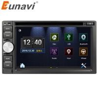 Eunavi 6.2'' Double 2 Din Car PC Windows CE system universal Car dvd with GPS Navigation USB BT Radio Video free map card+camera