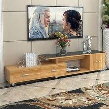 Длина масштабируемый ТВ Стенд стол Гостиная мебель для дома современный стиль деревянная панель тв стойка ТВ шкаф в сборе