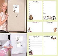 Ímãs de geladeira magnéticos para quadro branco, caneta marcador para escrita e quadro de mensagens, lembrete de lista, decoração de cozinha e casa, 140mmx200mm