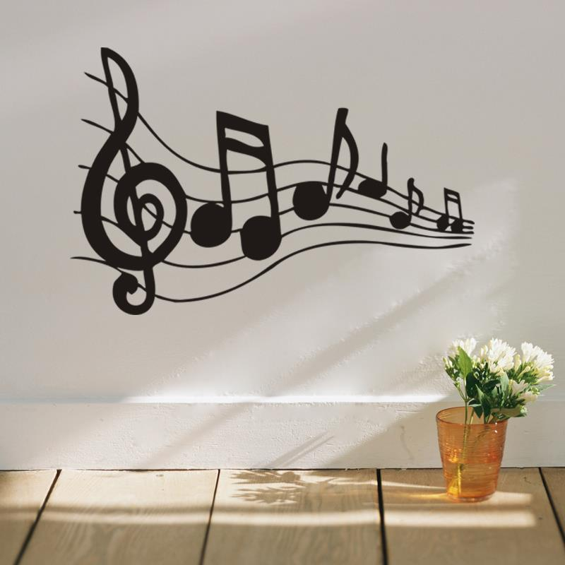 Free Shipping Music Note Wall Sticker Removable Vinyl Wall Decal - Vinyl wall decals removable