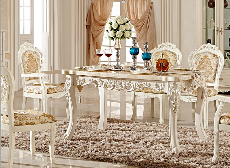 Classic Solid Wood Dining Table And Chair Pictures