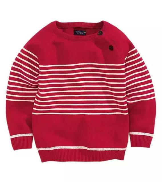 2016 New Baby knit Sweater Small Boys Striped pullover sweater wholesale
