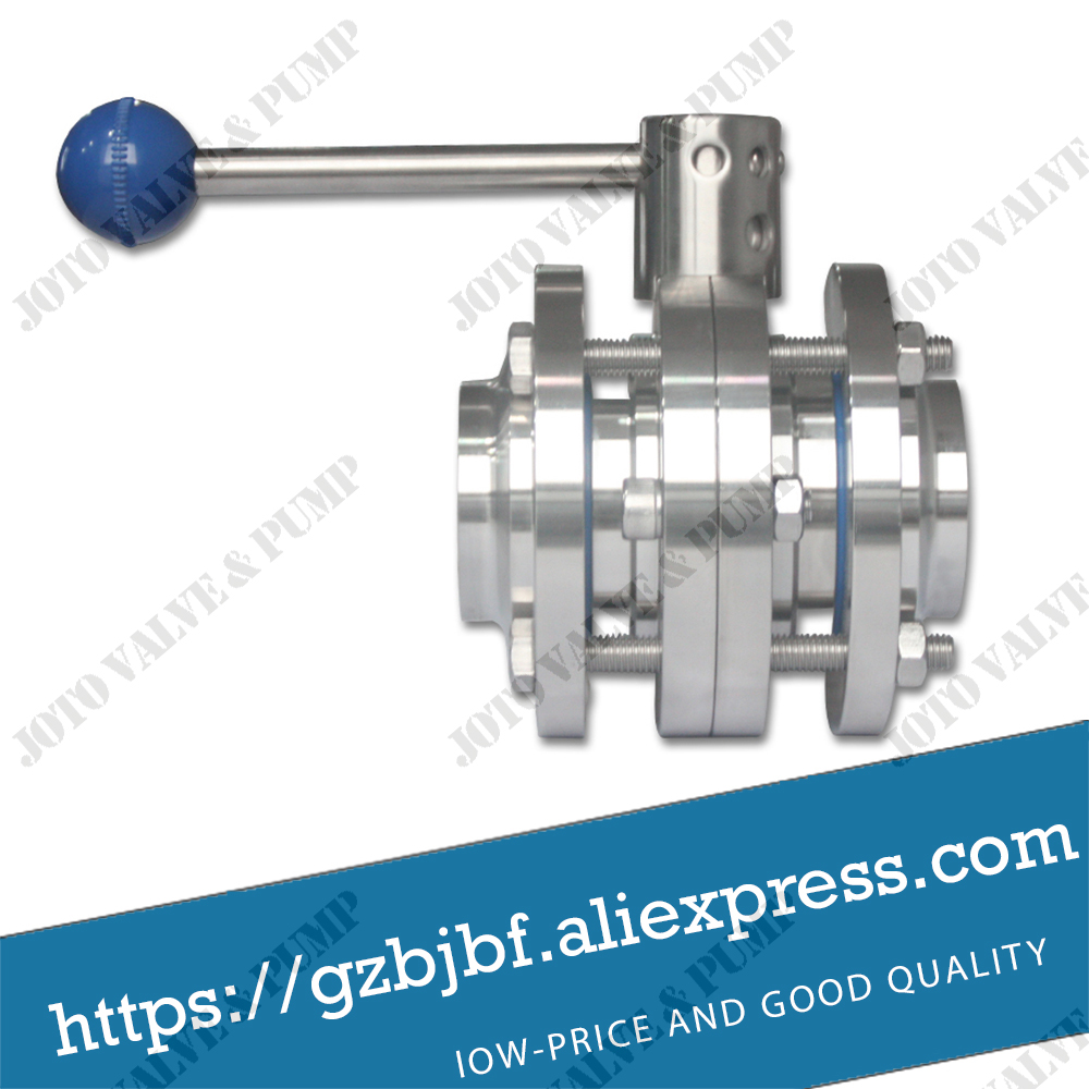 Food grade 304 three-piece flange butterfly valve Homebrew Beer Dairy Product 100g vitamin e food grade usa imported
