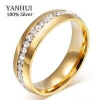 Perder dinheiro 95% de desconto!! Nunca desvanece-se cor sólida ouro cz diamante anéis de casamento para mulher 361l anel de aço inoxidável atacado jzr042