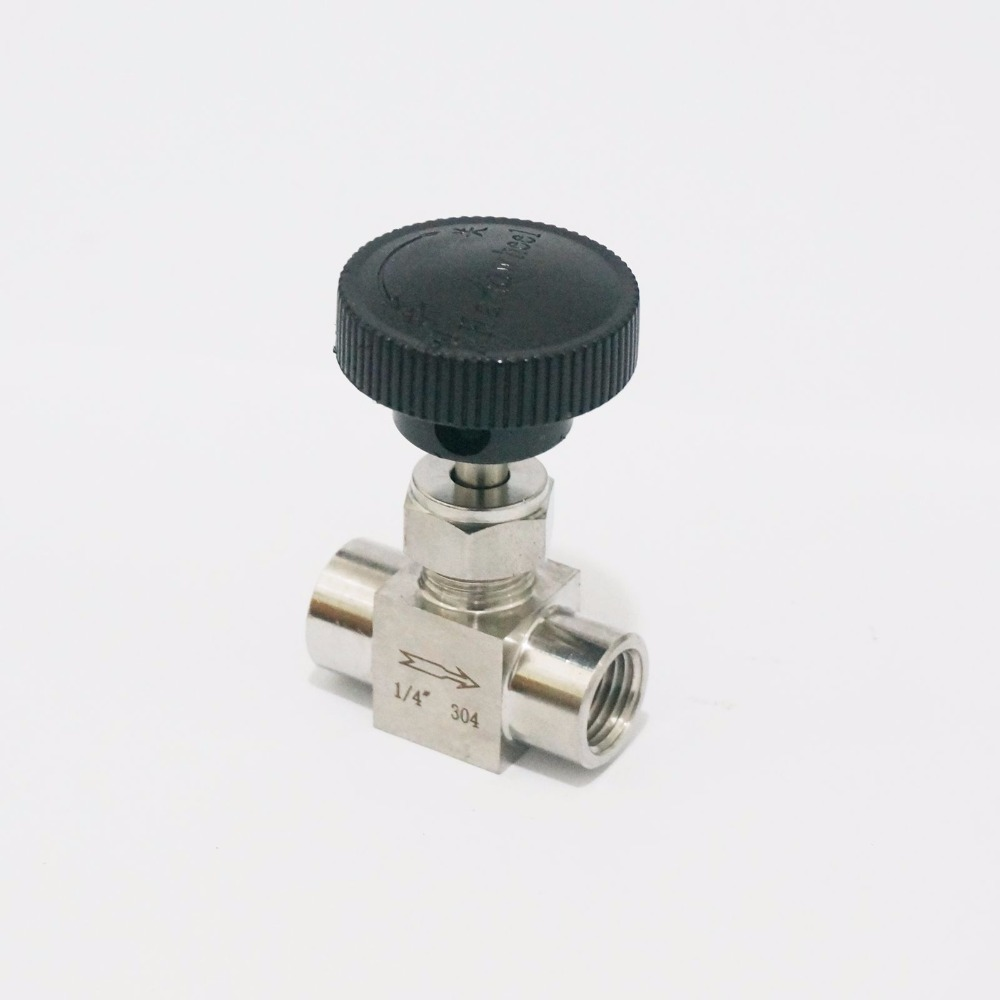 1/4 BSP Equal female Thread 304 Stainless Steel Flow Control shut off valve Needle Valve 915 PSI Water Gas Oil