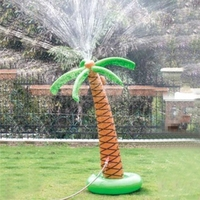 1.6m Water Spray Coconut Inflatable Palm Inflatable Children Toys For Party Pool Decorations Supplies Hawaii Sandbeach Series