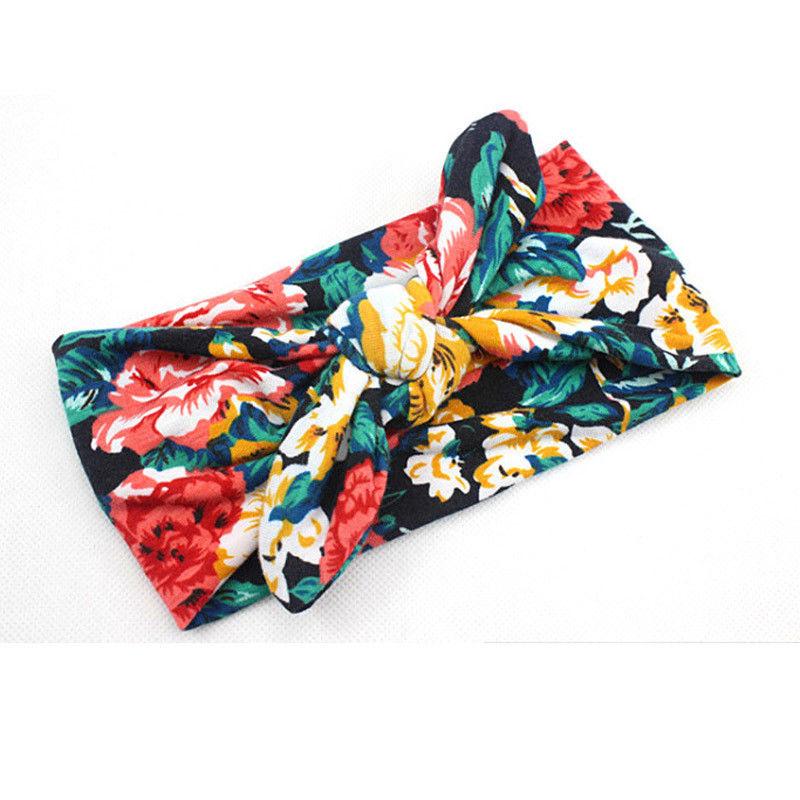 Новинка; цветная повязка на голову для новорожденных в стиле бохо; эластичная лента для волос для малышей; Детская повязка на голову с бантом для девочек - Цвет: Зеленый