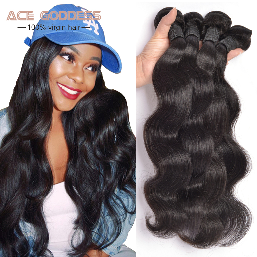 Hair Weaving: Malaysian Body Wave 3 Bundles 8A Malaysian Virgin Hair Bundle Deals Unprocessed Malaysian Hair cabelo humano 100% Human Hair