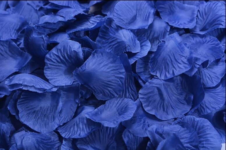 Dark blue Silk Rose Petals, Artificial Rose Petals for ...