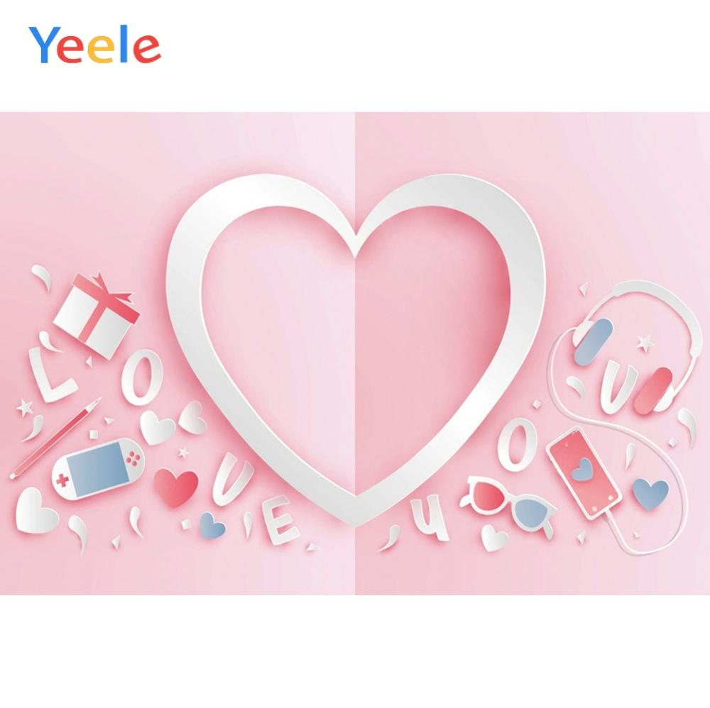 Yeele Valentines Day Photocall Heart I Love You Photography Backdrops Personalized Photographic Backgrounds For Photo Studio