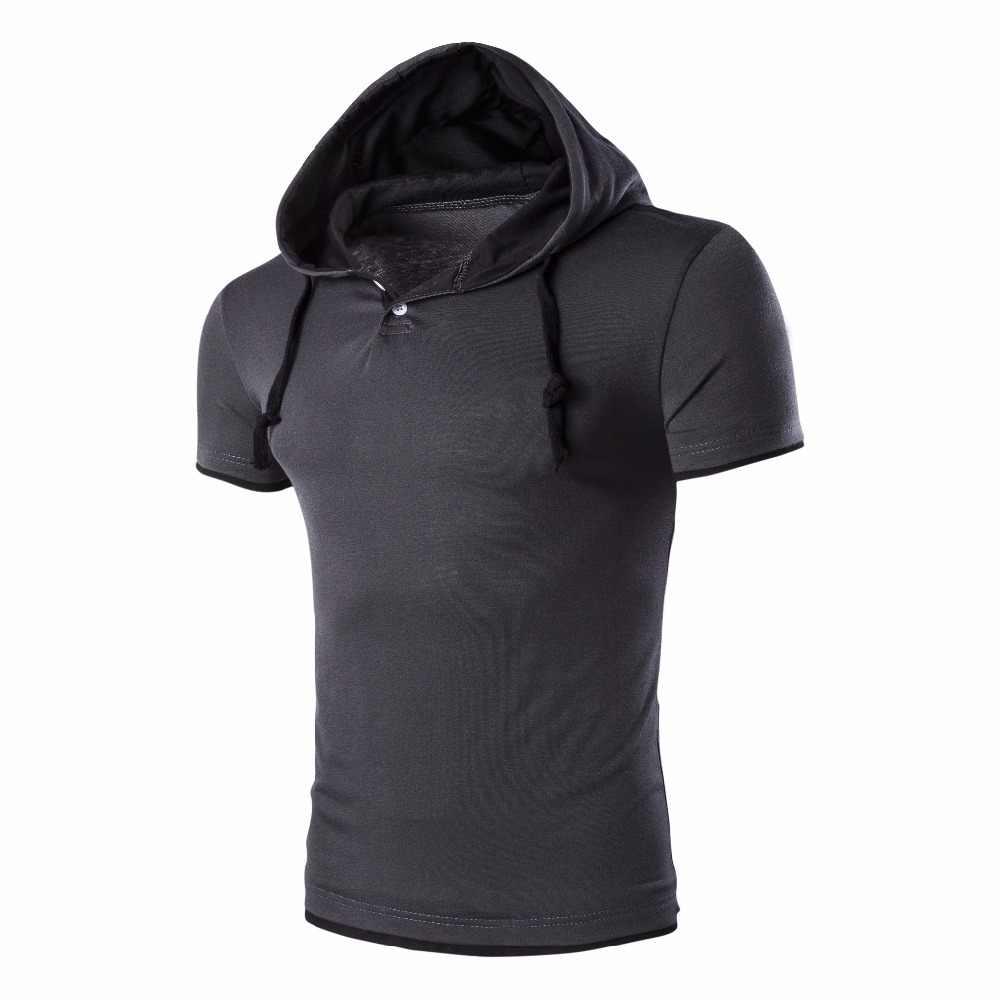 2020 POLO GÖMLEK erkekler M-5XL rahat tarzı kapşonlu Slim Fit yaz sıcak satış elastik marka giyim düz kısa kollu erkek polo