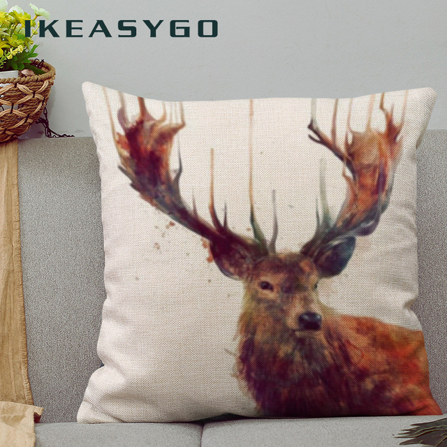 Cushion Cover Printed Home Decoration Pilows Car Covers Funda Cojin - Cojines-negros