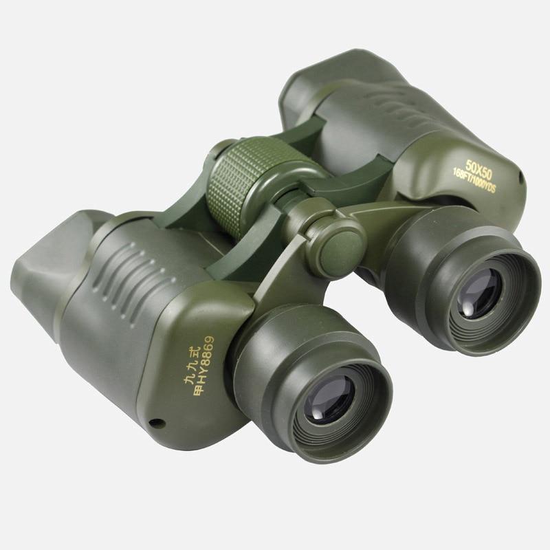 オリジナル50x50双眼鏡ハイパワーHD BAK4金属望遠鏡狩猟ナイトビジョン屋外スポッティングスコープ新しいБинокль