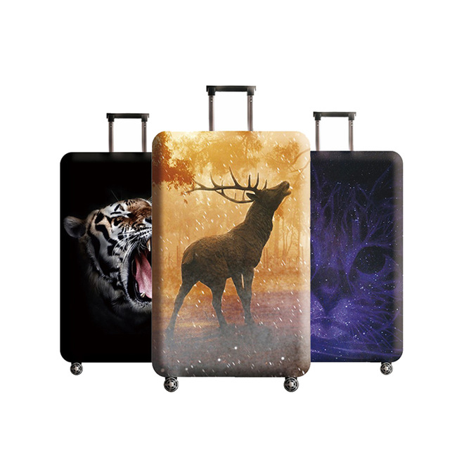 Sereqi New Travel Thickening Stretch Giraffe Trunk Lid Suitable For 18 32 Inch Luggage Suitcase Dust Cover Travel Accessories