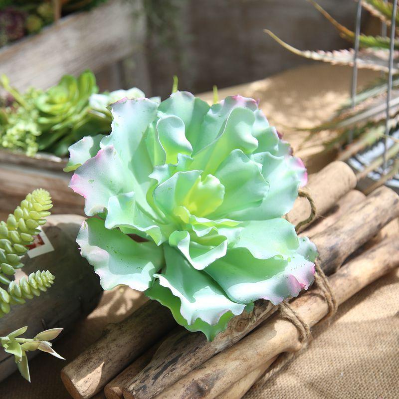 1PC Green Mini Succulent Plant Artificial Micro Landscape Flower Arrangement Garden Wedding Home Table Decoration Plastic Bonsai