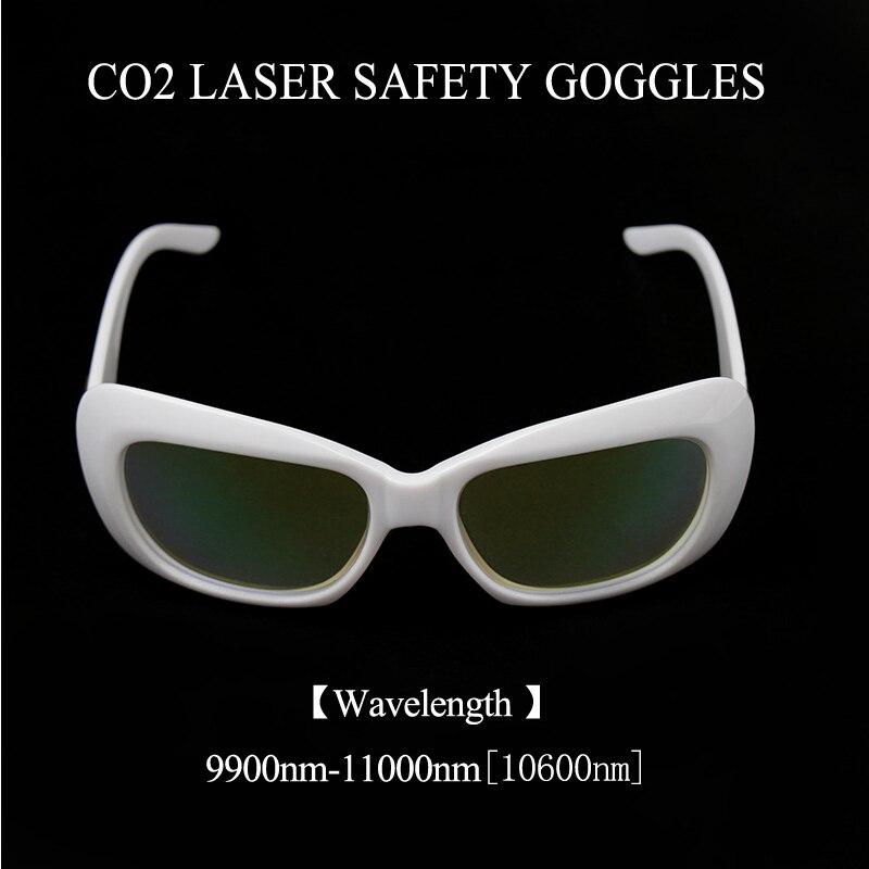Weimeng 10600nm CO2 lunettes de protection Laser cadre blanc 9900-11000NM Transparent OD + 5 pour Machine Laser instrument de beauté
