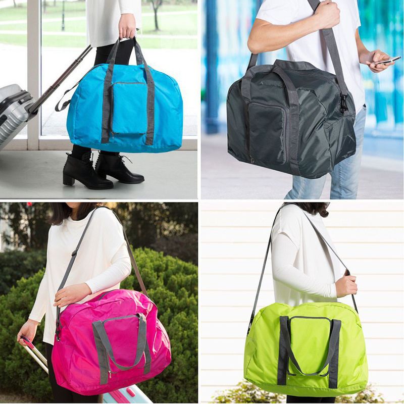 Hot Sale Folding Suitcase Handbag Storage Luggage Pouch Shoulder Tote Travel Bag Clothes Organiser WML99