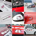 Cartoon Hello Kitty Car Stickers And Decals Pink Car Accessories Set Auto Car-Styling For Door Mirror Window Body Interior