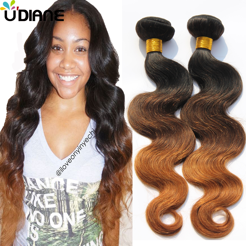 3 Tone Ombre Brazilian Hair Weave 3pcs Body Wave Ombre Hair