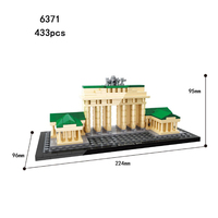 Hot world famous Architecture Brandenburg gate Berlin germany building block mini model bricks educational toys collection
