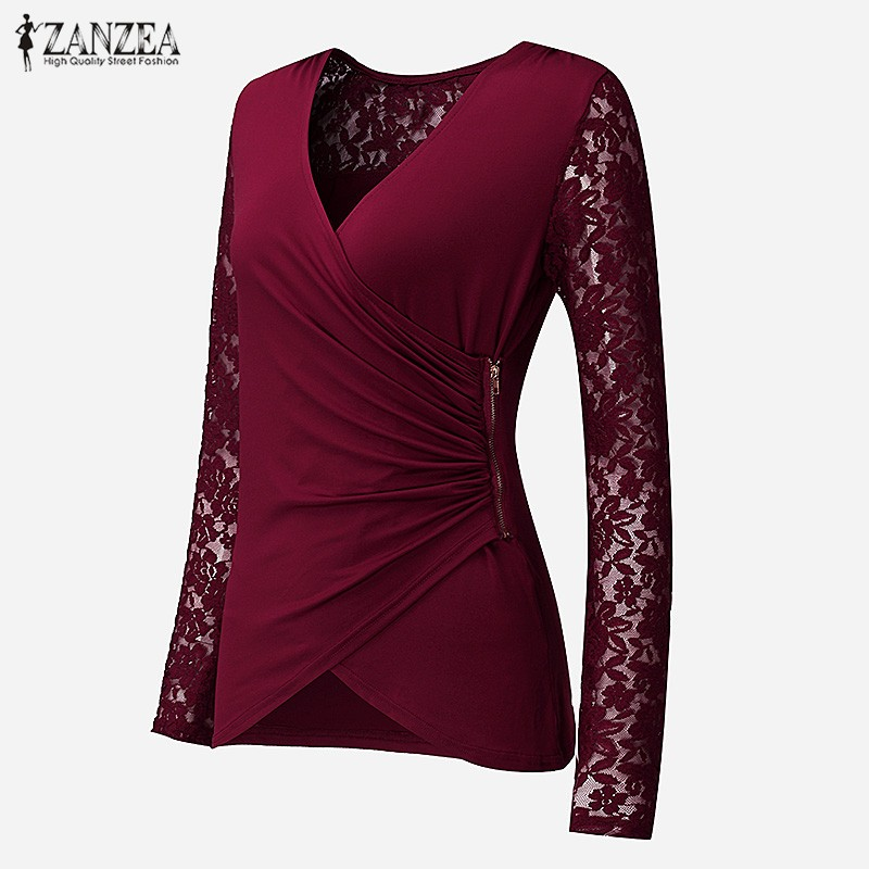 HTB1zmIDNVXXXXXuaVXXq6xXFXXXE - Women Lace Blouses Tops 2017 Autumn Sexy V Neck Long Sleeve