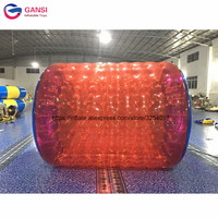 1.00mm pvc inflatable roller wheel for adults inflatable water wheel toy with cheap price