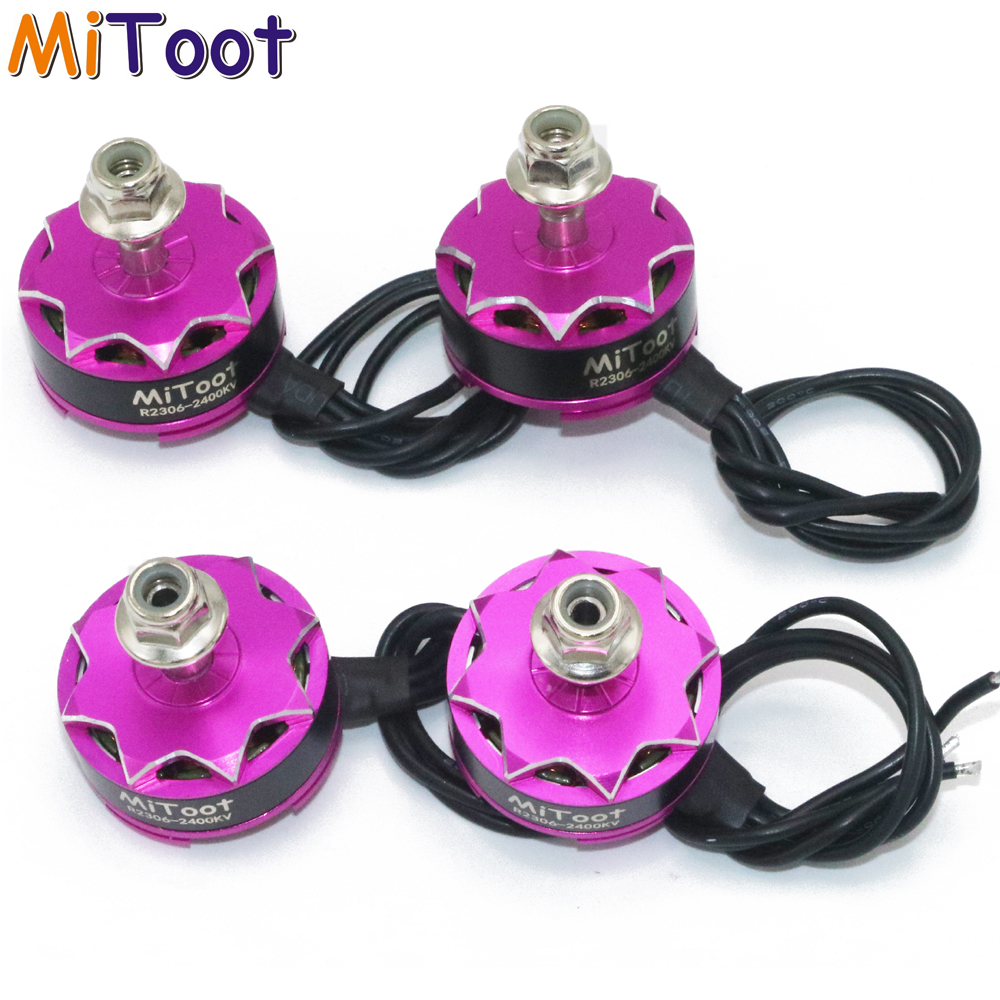 4 unids/lote mitoot r2306 2400kv 3-4 s 12n14p FPV carreras sin escobillas Motores para RC Racing drone quadcopter