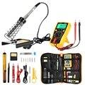 Многофункциональный набор паяльника 60 Вт регулируемый инструмент для сварки температуры усовершенствованный Цифровой мультиметр Инструм...