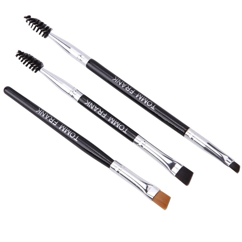 3PCS Make Up Foundation Professional  Eyebrow Makeup Brushes Set Eyeliner Lip Brush Tools