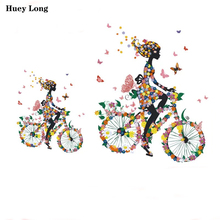 Beautiful Flower Fairy Bicycle Heat Transfer Patch DIY Clothes, Shoes, Hats, Boxes and Bags Printing Ironing transfer patch nucleation condensation and heat transfer