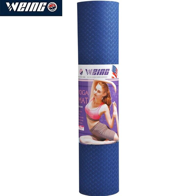 Tapis de sport d'exercice de tapis de Yoga de TPE de 6 MM imprimés pour le tapis insipide environnemental de gymnase de forme physique